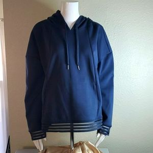 Xersion blue pullover w/hood